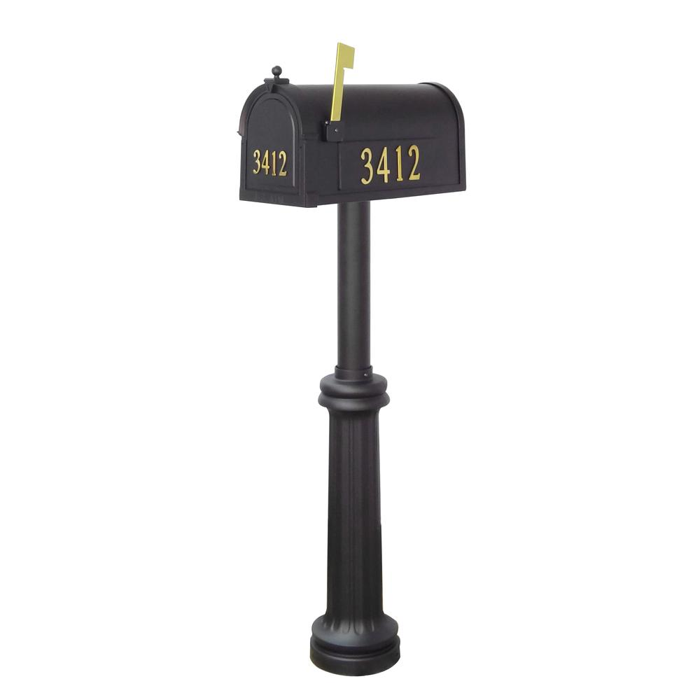 Berkshire Curbside Mailbox with Front and Side Address Numbers and Bradford Mailbox Post. Picture 4