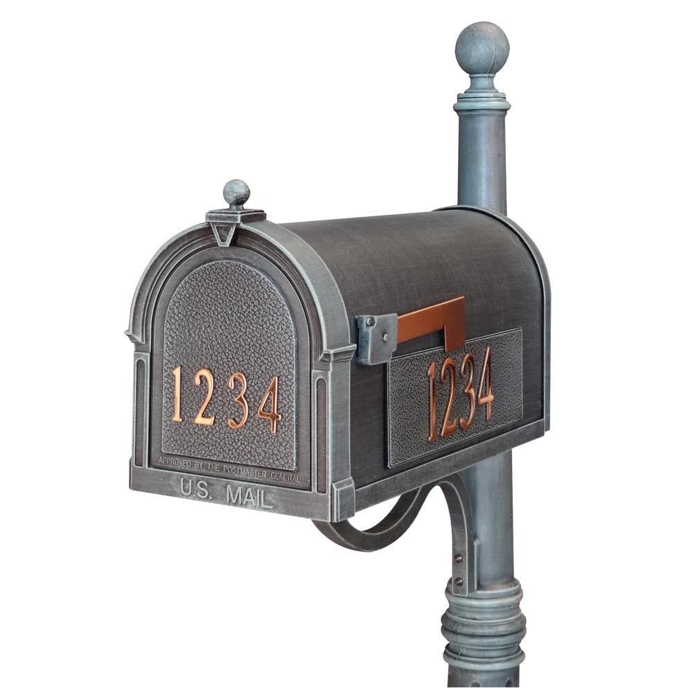 Berkshire Curbside Mailbox with Front and Side Numbers. Picture 1