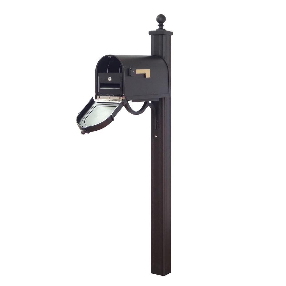 Berkshire Curbside Mailbox with Locking Insert and Springfield Mailbox Post. Picture 1