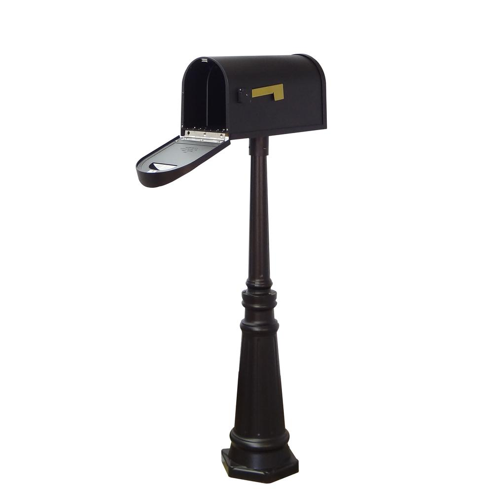 Classic Curbside Mailbox and Tacoma Surface Mount Mailbox Post with Base. Picture 4