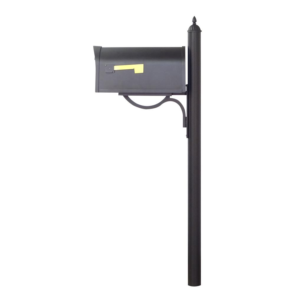Classic Curbside Mailbox with Richland Mailbox Post. Picture 4