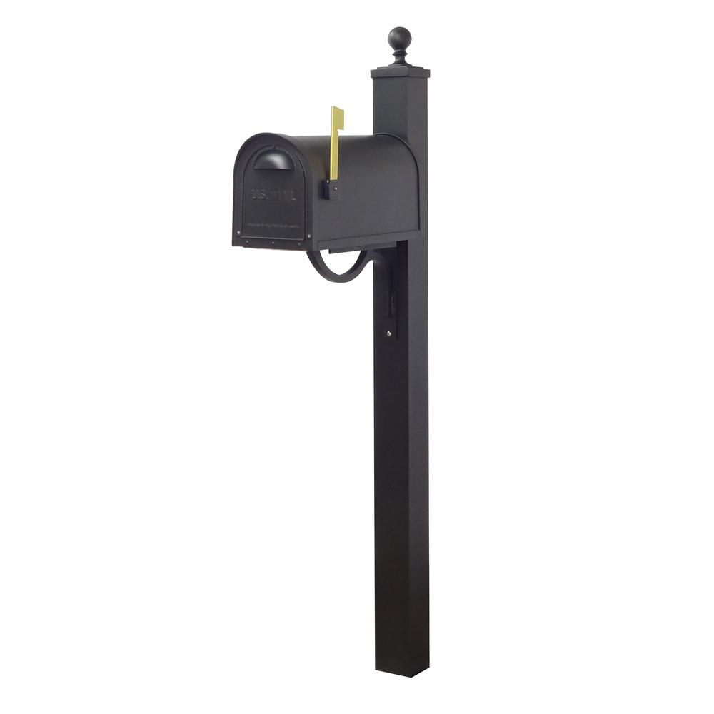 Classic Curbside Mailbox and Springfield Direct Burial Mailbox Post Smooth. Picture 2