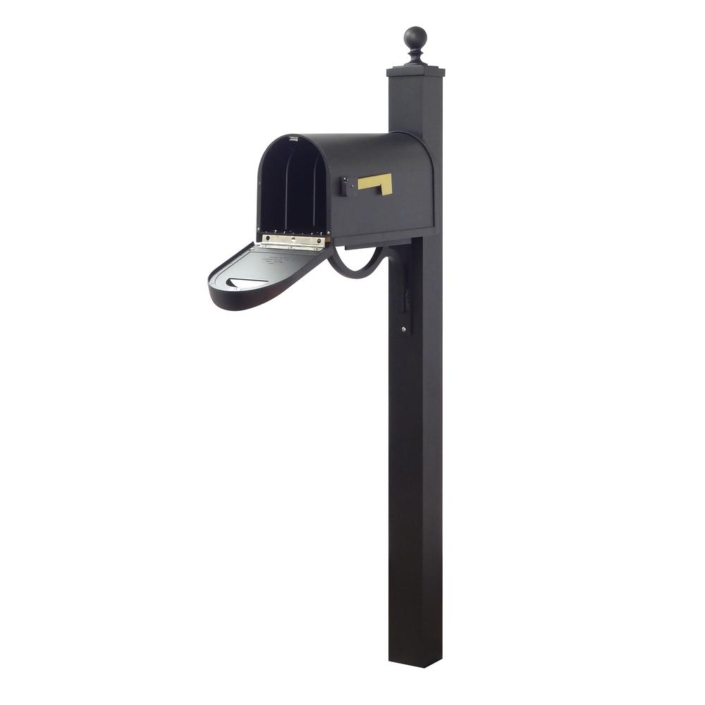 Classic Curbside Mailbox and Springfield Direct Burial Mailbox Post Smooth. Picture 3