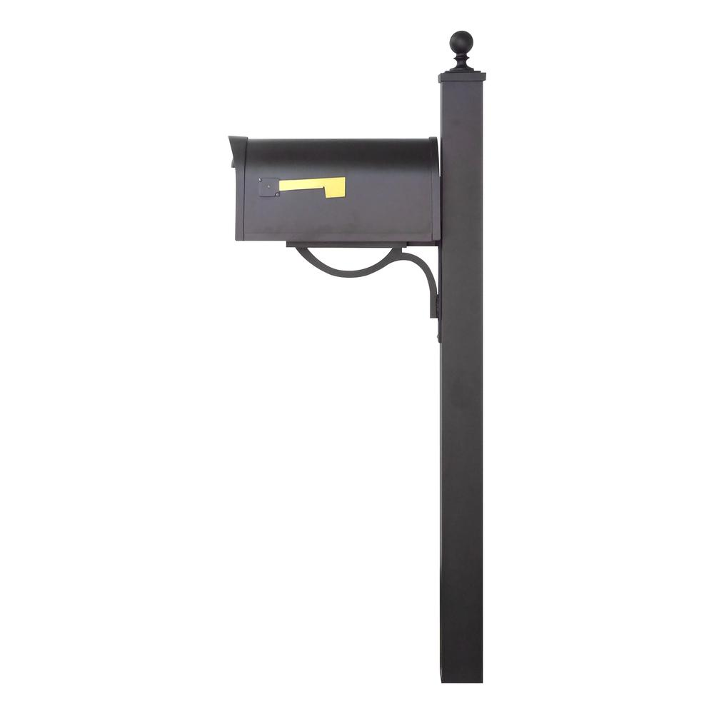 Classic Curbside Mailbox and Springfield Direct Burial Mailbox Post Smooth. Picture 4