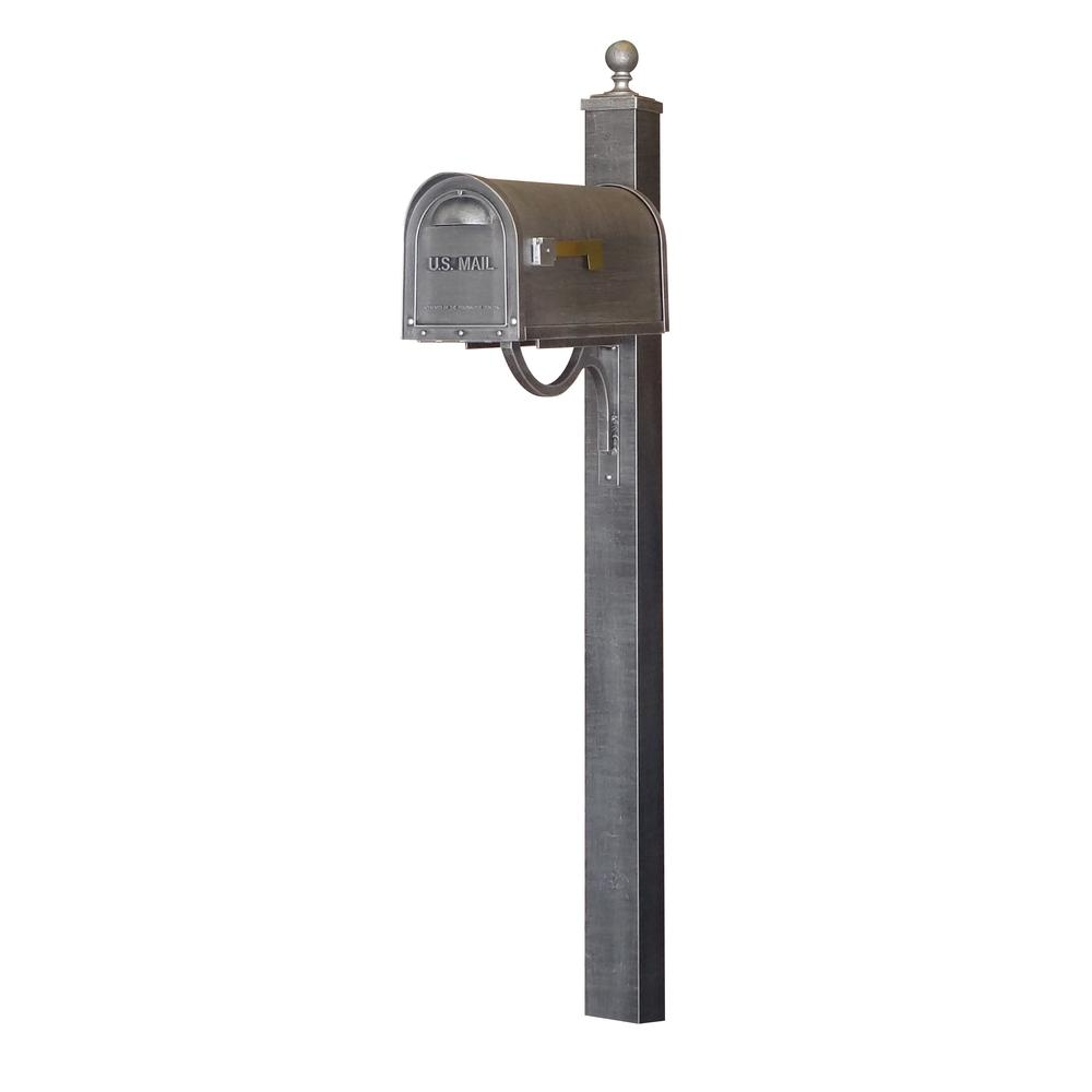 Classic Curbside Mailbox and Springfield Direct Burial Mailbox Post Smooth. Picture 1