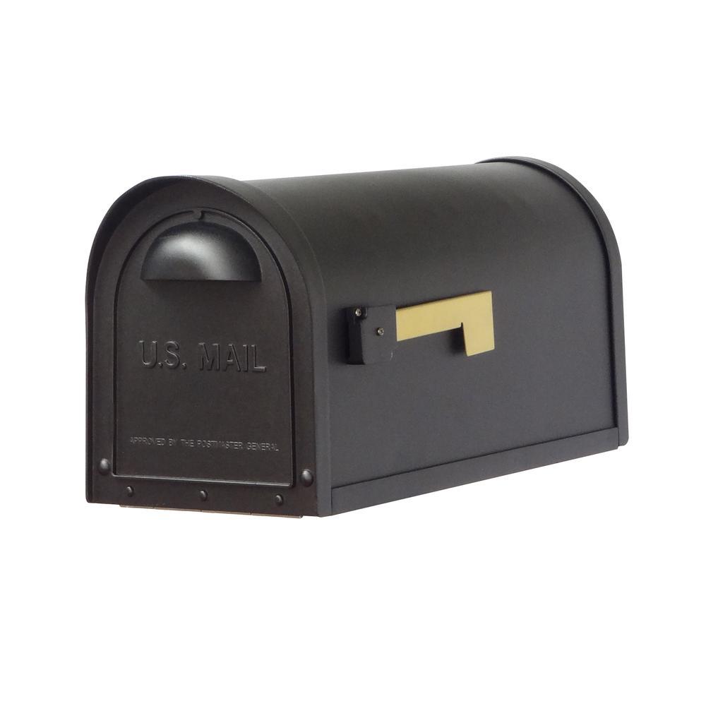 Classic Curbside Mailbox Decorative Solid Cast Aluminum Mailbox. Picture 1