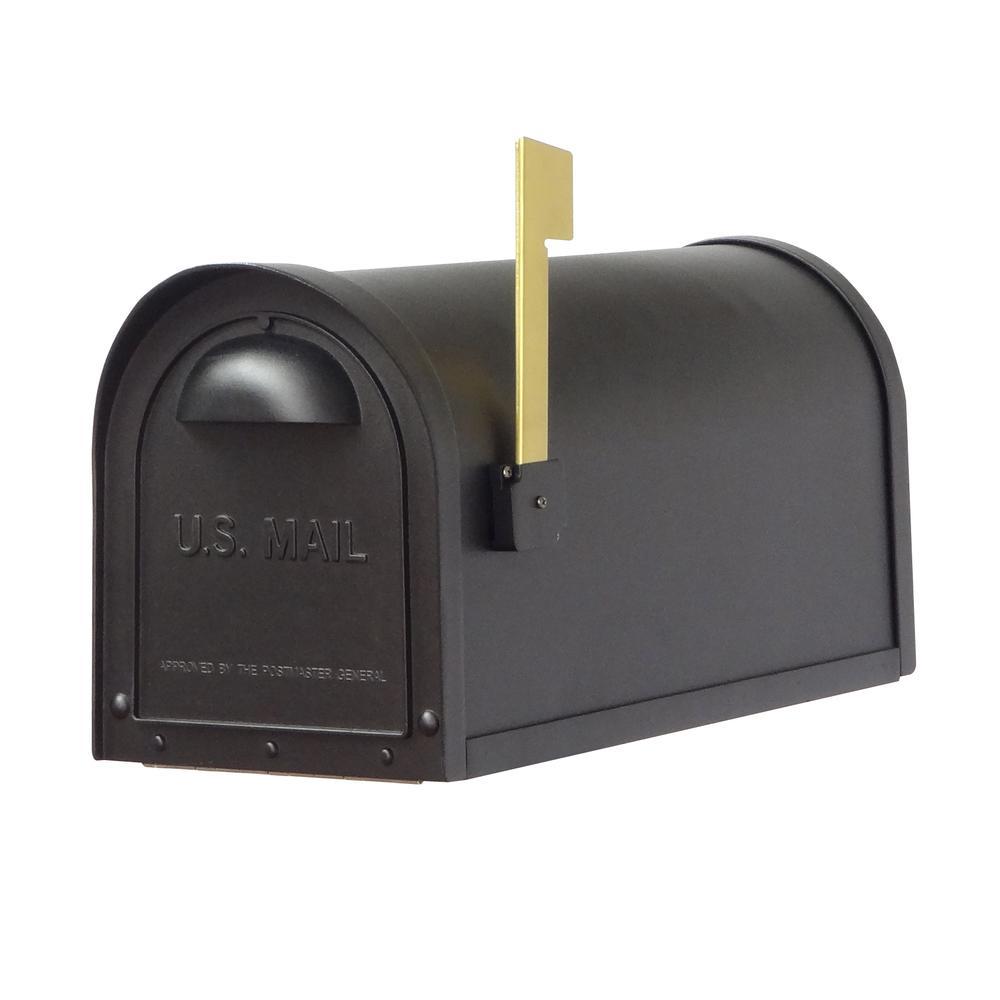 Classic Curbside Mailbox Decorative Solid Cast Aluminum Mailbox. Picture 2