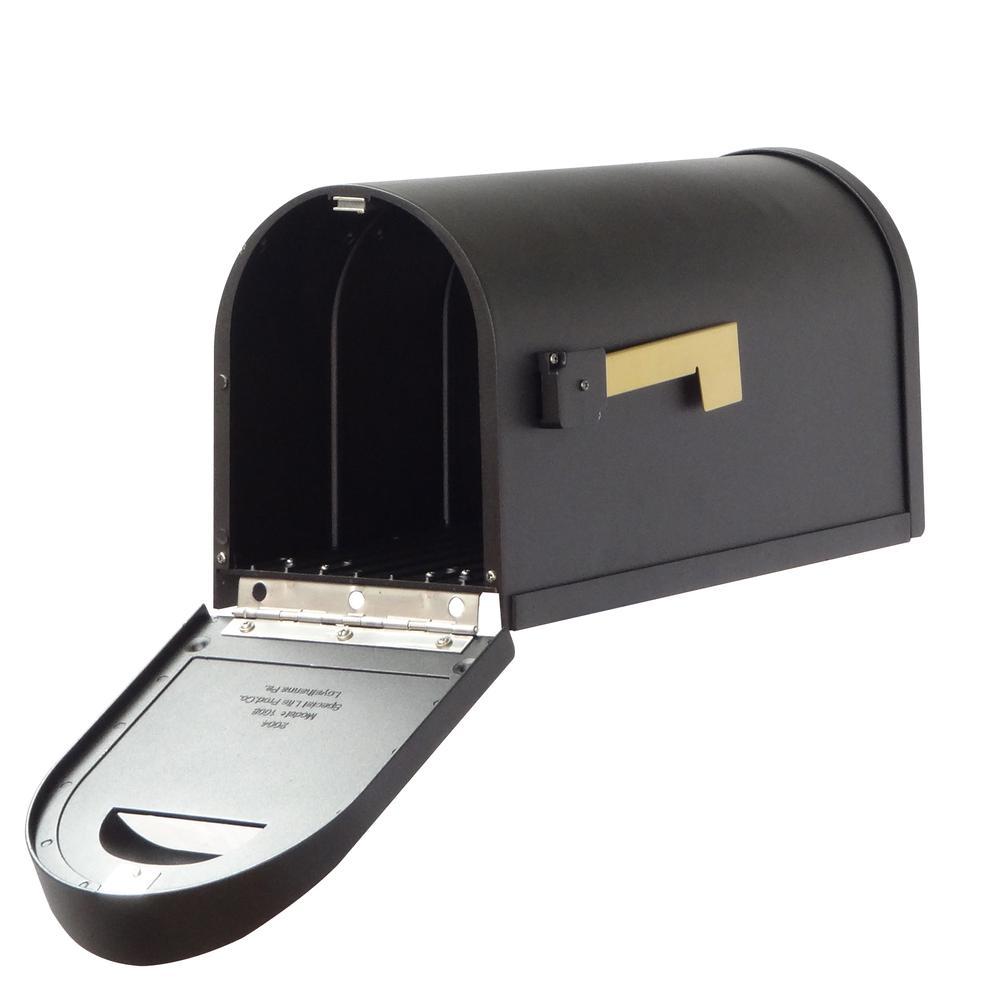 Classic Curbside Mailbox Decorative Solid Cast Aluminum Mailbox. Picture 3