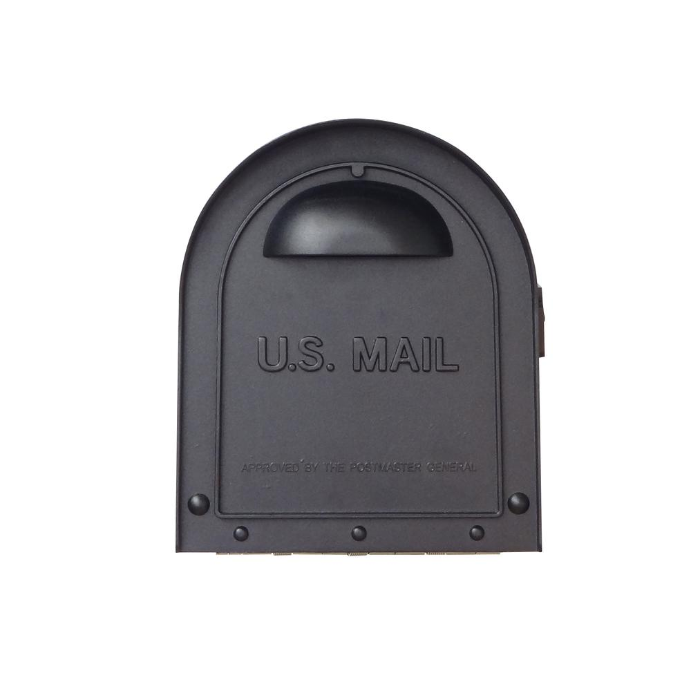 Classic Curbside Mailbox Decorative Solid Cast Aluminum Mailbox. Picture 6