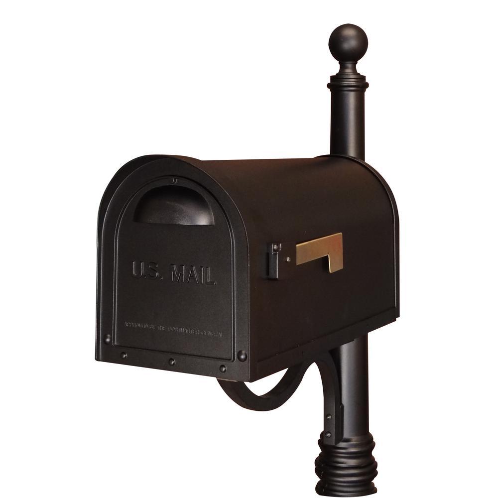 Classic Curbside Mailbox Decorative Solid Cast Aluminum Mailbox. Picture 7