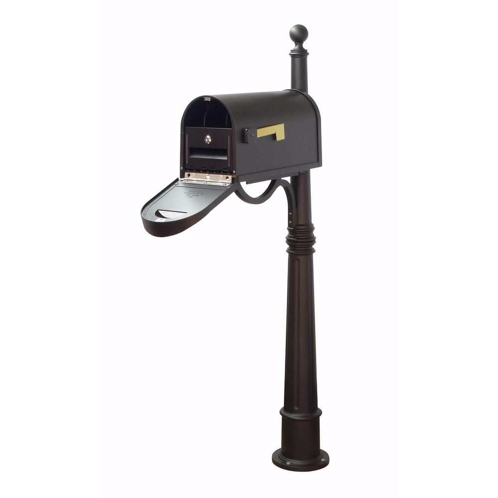 Classic Curbside Mailbox with Locking Insert and Ashland Mailbox Post. Picture 1