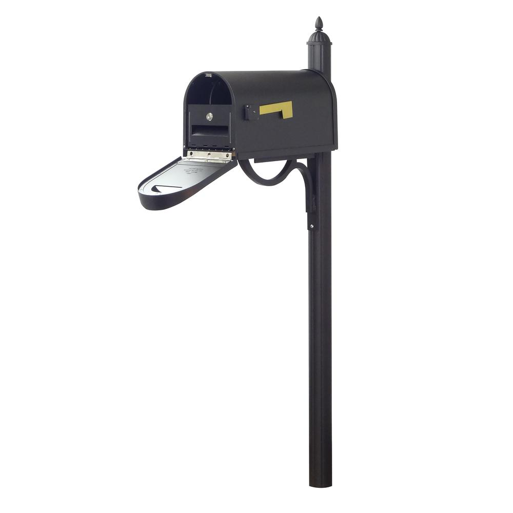 Classic Curbside Mailbox with Locking Insert and Richland Mailbox Post. Picture 1