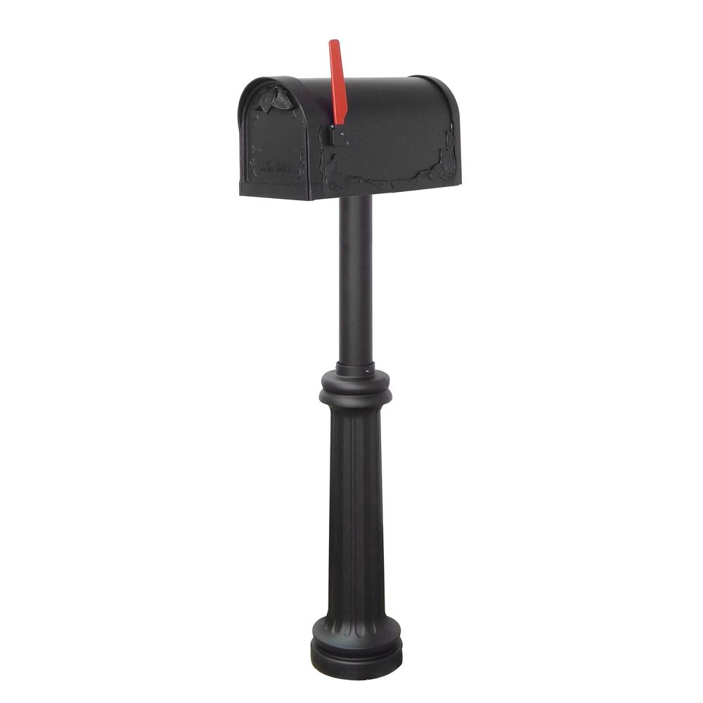 Floral Curbside Mailbox Bradford Direct Burial Top Mount Mailbox Post Decorative Aluminum. Picture 2