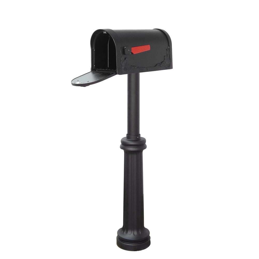 Floral Curbside Mailbox Bradford Direct Burial Top Mount Mailbox Post Decorative Aluminum. Picture 3
