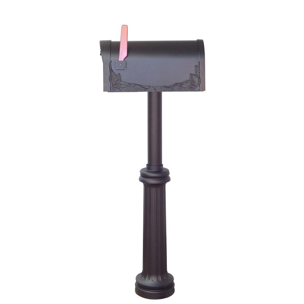 Floral Curbside Mailbox Bradford Direct Burial Top Mount Mailbox Post Decorative Aluminum. Picture 4