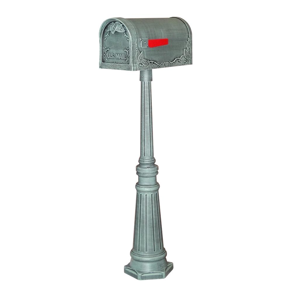 Floral Curbside Mailbox Decorative Tacoma Surface Mount Mailbox Post with Base. Picture 1