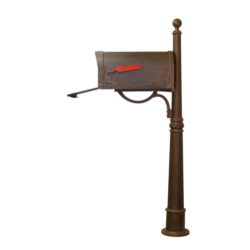 Floral Curbside Mailbox Ashland Decorative Aluminum Durable Mailbox Post. Picture 8