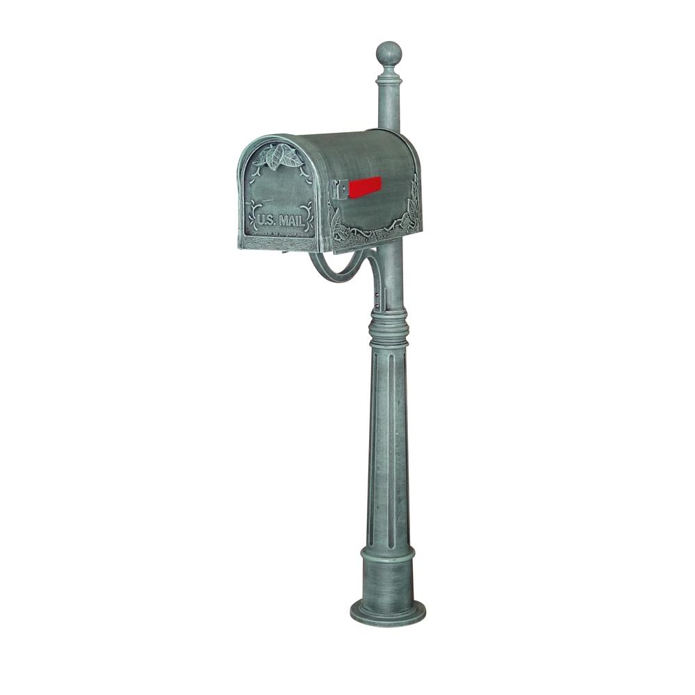 Floral Curbside Mailbox Ashland Decorative Aluminum Durable Mailbox Post. Picture 1