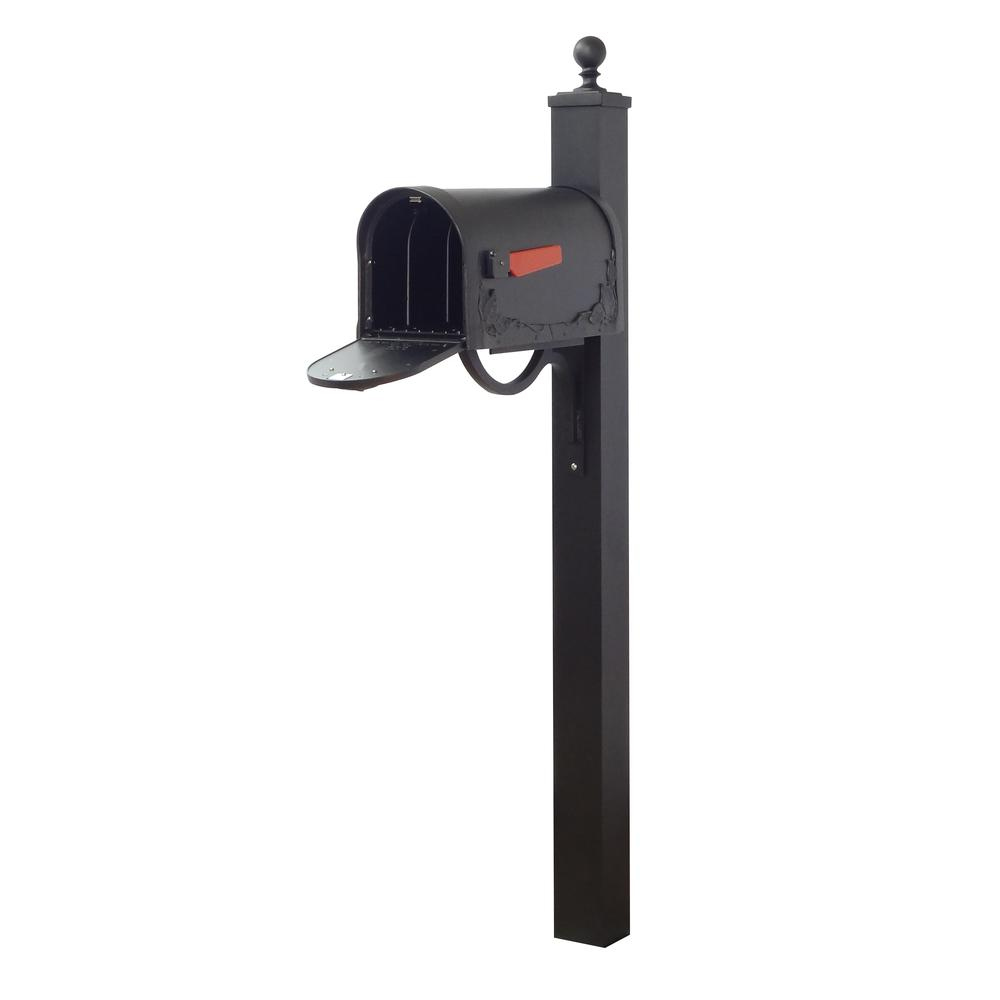 Floral Curbside Mailbox and Springfield Direct Burial Mailbox Post Smooth Square. Picture 3