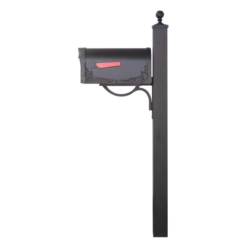Floral Curbside Mailbox and Springfield Direct Burial Mailbox Post Smooth Square. Picture 4