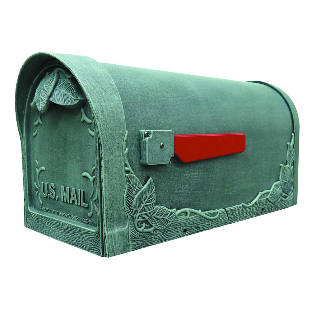Floral Curbside Mailbox Decorative Aluminum Flower Mailbox. Picture 1