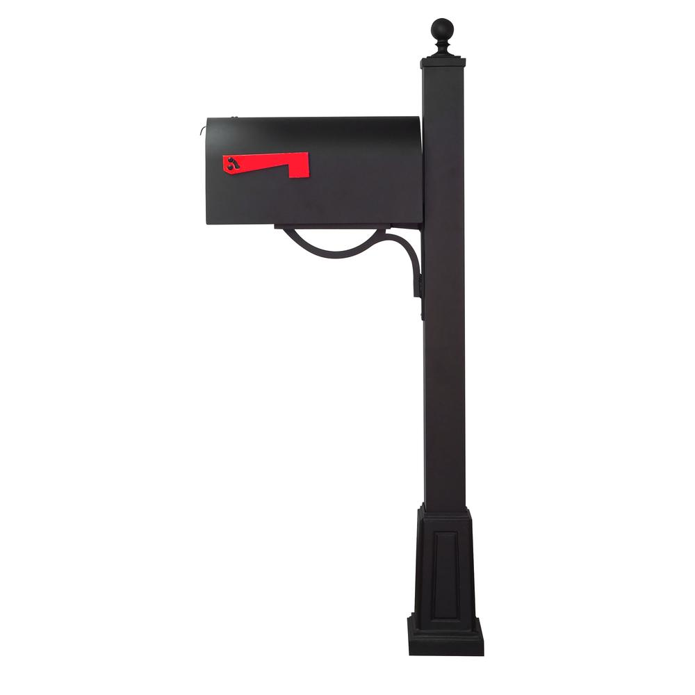 Titan Steel Curbside Mailbox and  Springfield Mailbox Post with Base. Picture 4
