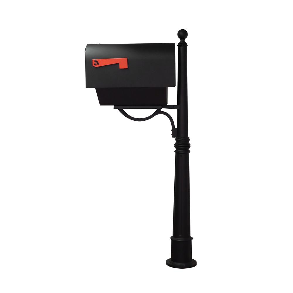 Titan Steel Curbside Mailbox with Newspaper Tube and Ashland Mailbox Post. Picture 4
