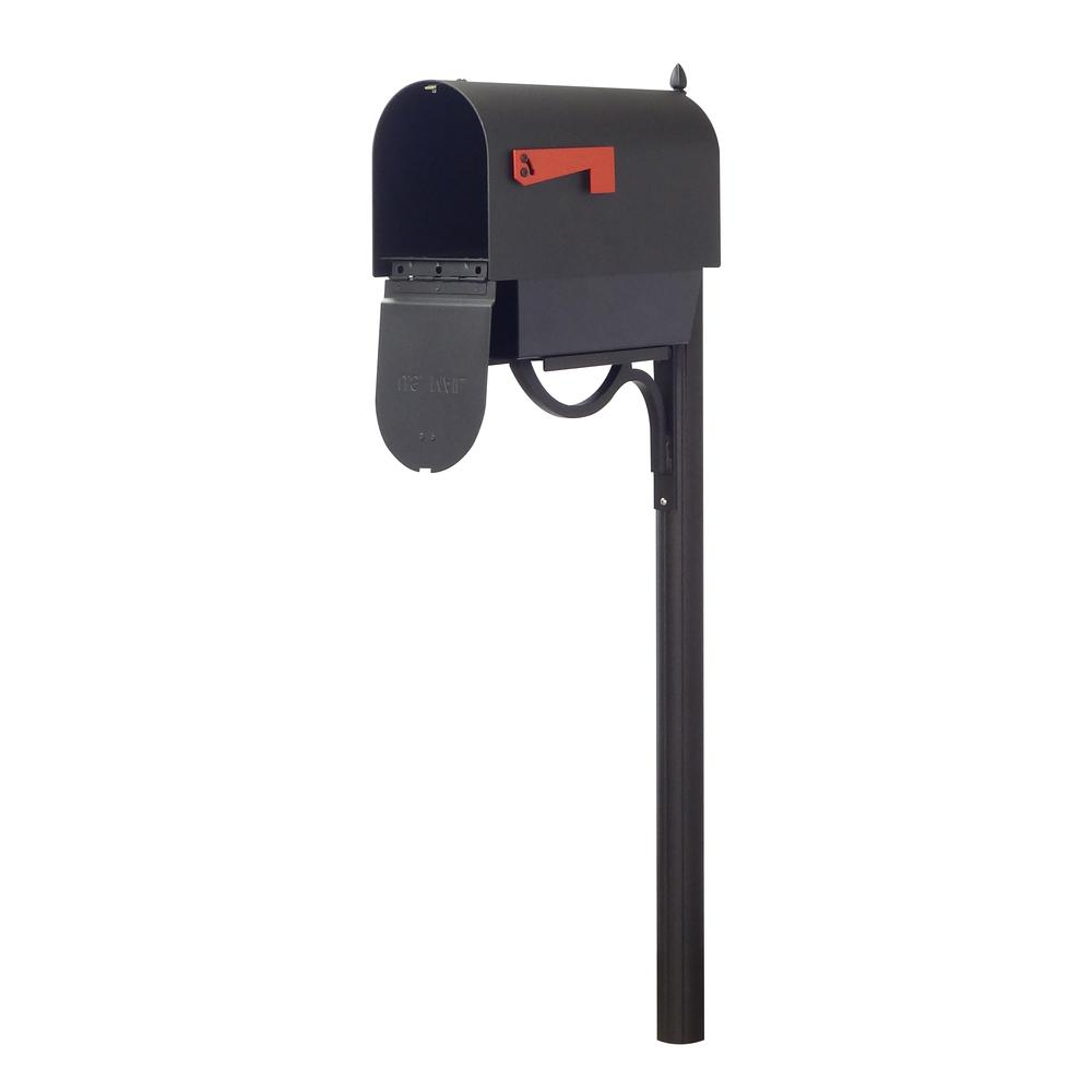 Titan Steel Curbside Mailbox with Paper Tube and Richland Mailbox Post. Picture 3