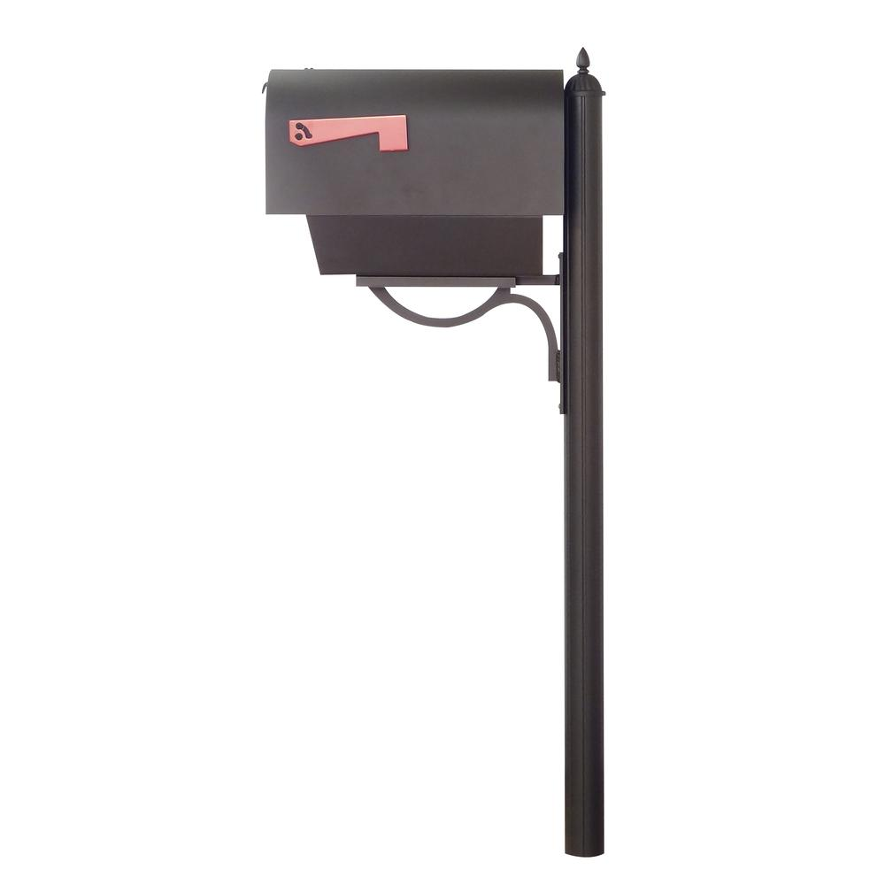 Titan Steel Curbside Mailbox with Paper Tube and Richland Mailbox Post. Picture 4