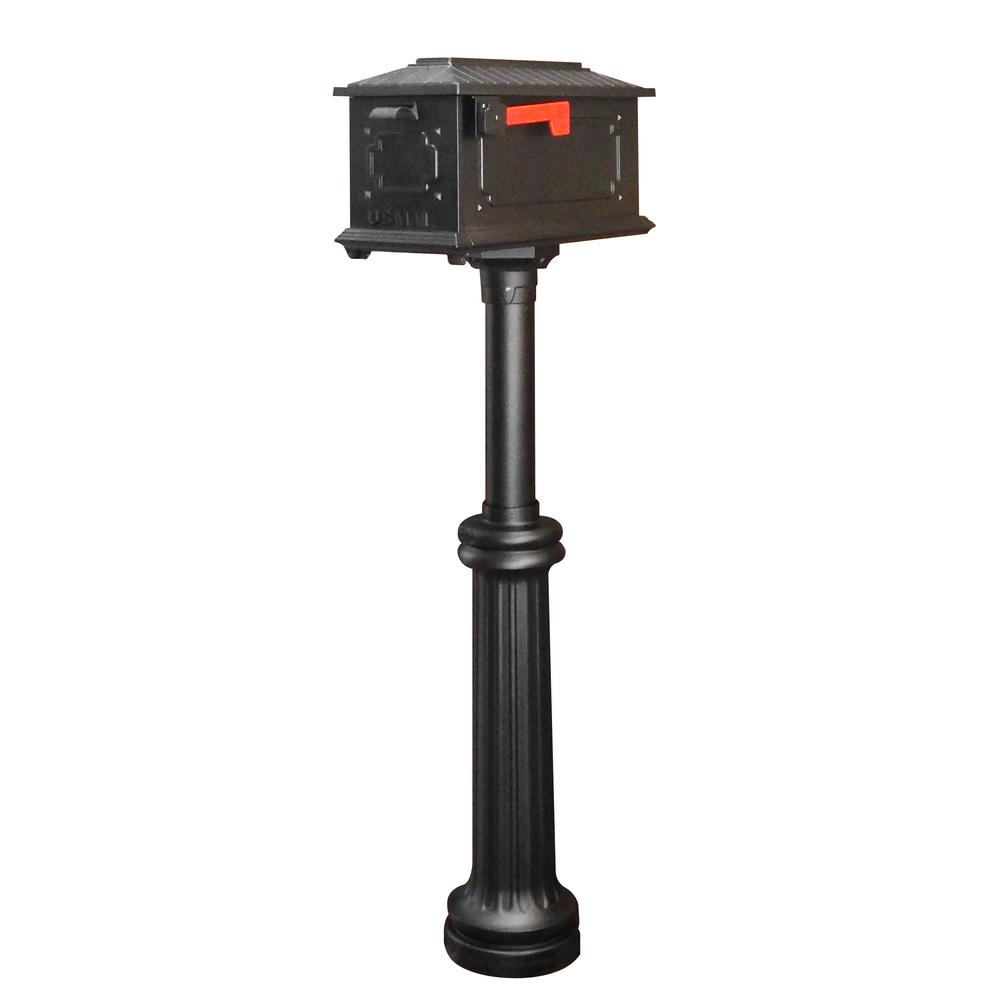 Kingston Curbside Mailbox and Bradford Direct Burial Top Mount Mailbox Post