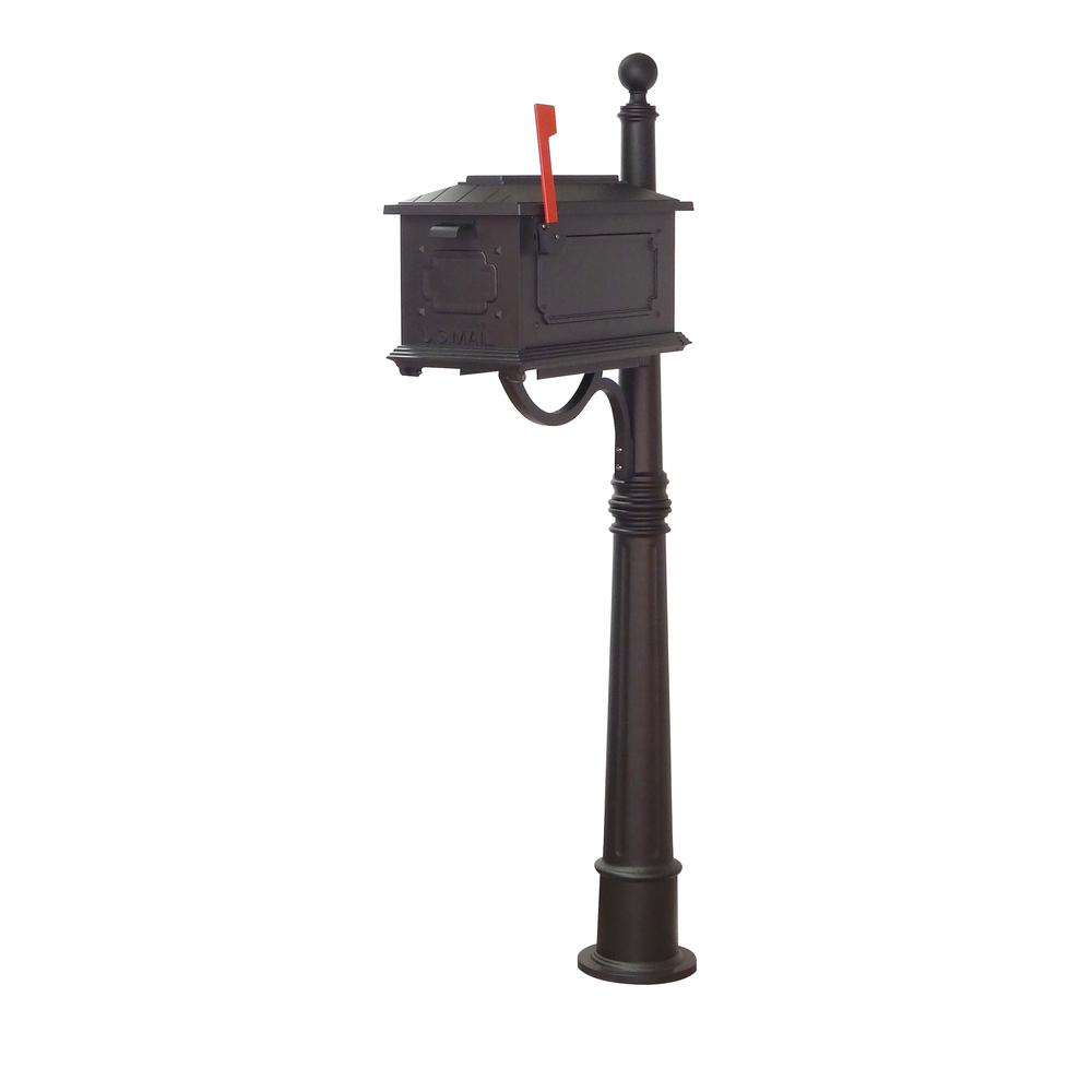 Kingston Curbside Mailbox and Ashland Decorative Aluminum Durable Mailbox Post. Picture 2