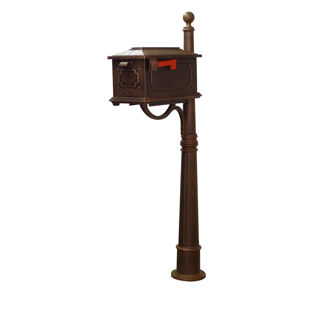Kingston Curbside Mailbox and Ashland Decorative Aluminum Durable Mailbox Post. Picture 1