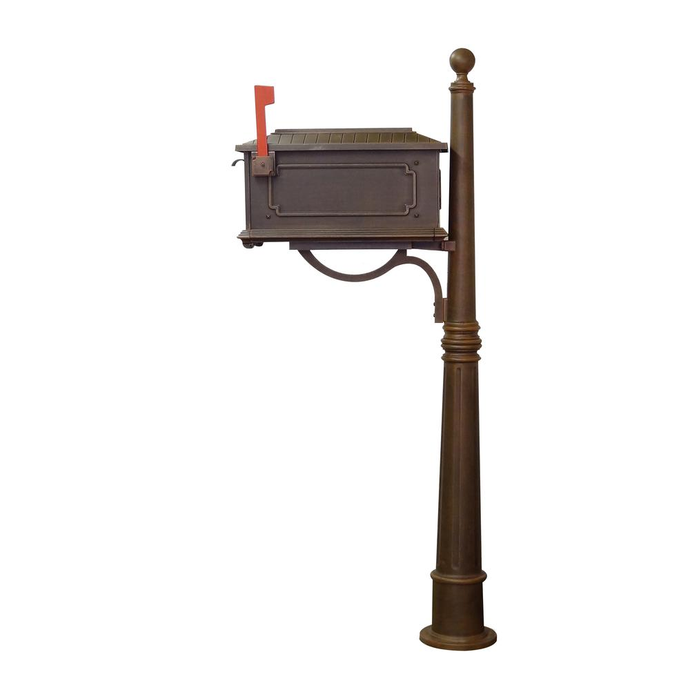 Kingston Curbside Mailbox and Ashland Decorative Aluminum Durable Mailbox Post. Picture 5