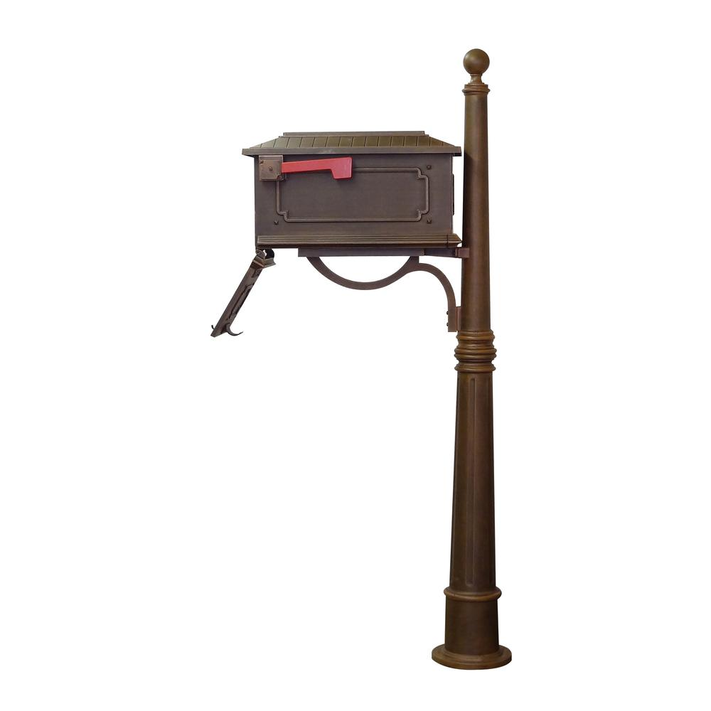 Kingston Curbside Mailbox and Ashland Decorative Aluminum Durable Mailbox Post. Picture 6