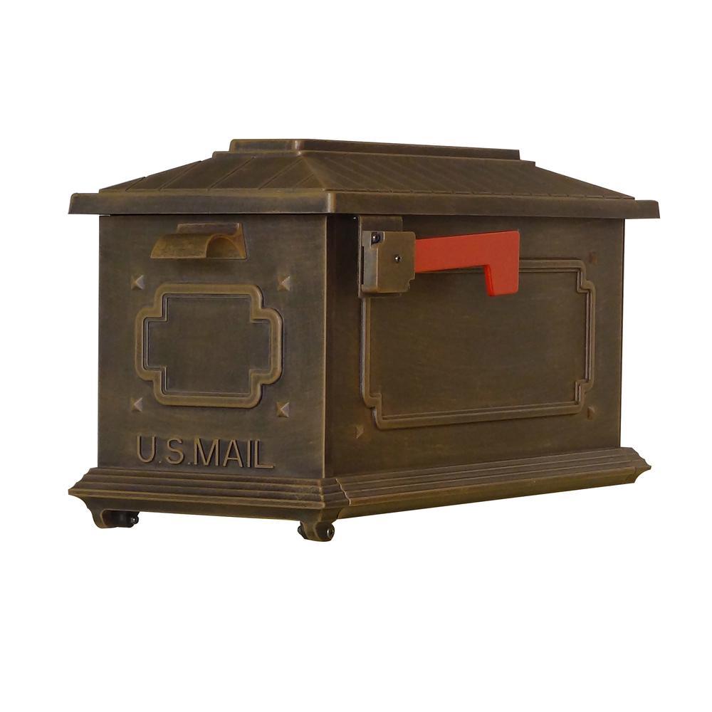Kingston Curbside Mailbox Decorative Aluminum Elegant Mailbox. Picture 1
