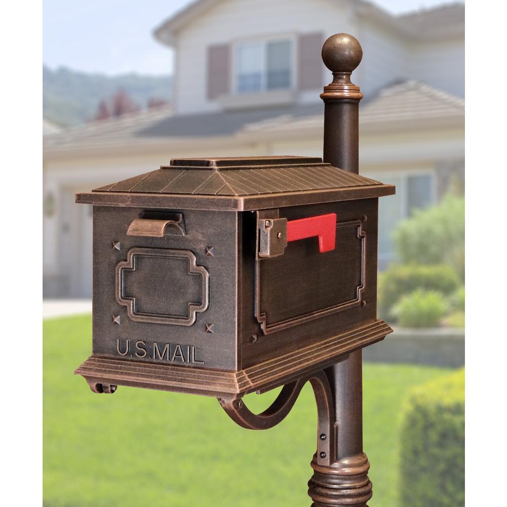 Kingston Curbside Mailbox Decorative Aluminum Elegant Mailbox. Picture 2