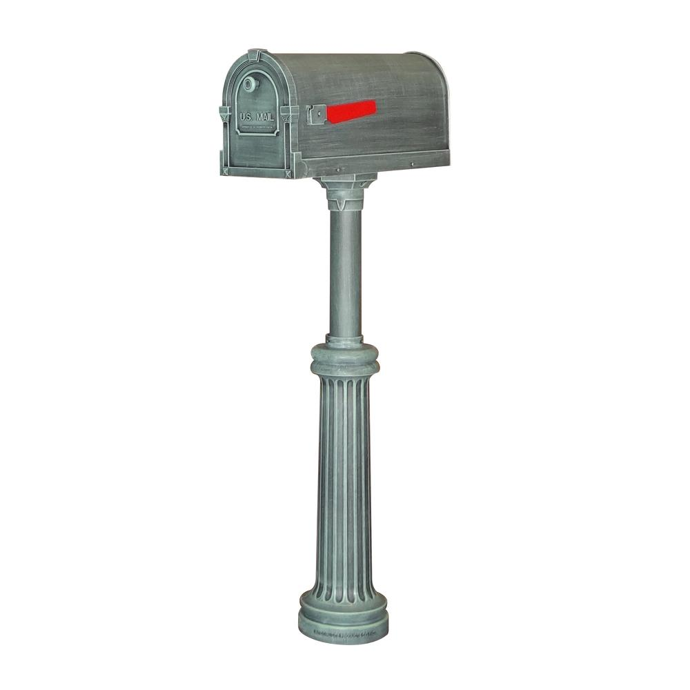 Savannah Curbside Mailbox and Bradford Direct Burial Top Mount Mailbox Post. Picture 1