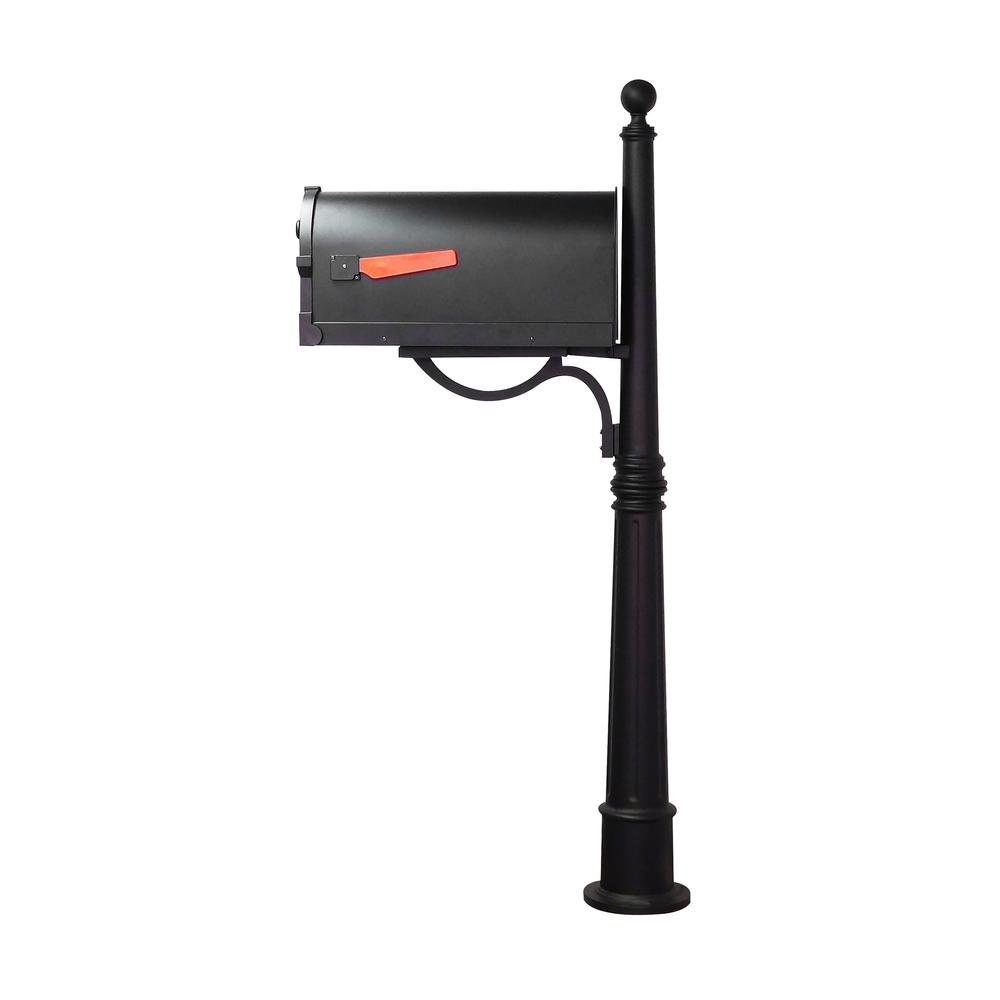 Savannah Curbside Mailbox and Ashland Decorative Aluminum Durable Mailbox Post with Ball Topper. Picture 4