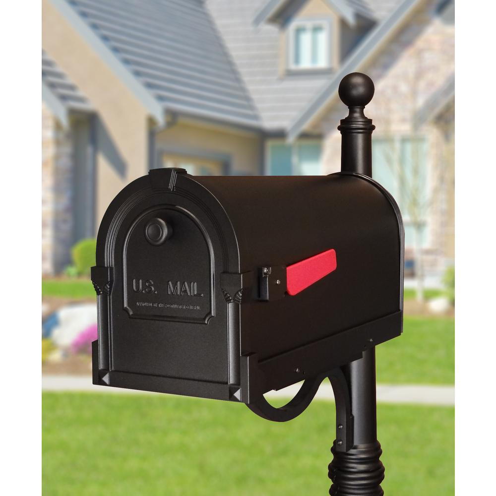 Savannah Curbside Mailbox Decorative Aluminum Mailbox. Picture 4