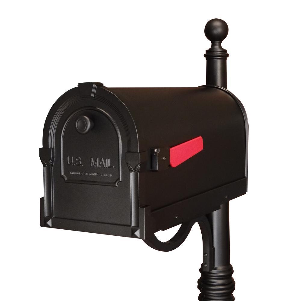 Savannah Curbside Mailbox Decorative Aluminum Mailbox. Picture 7