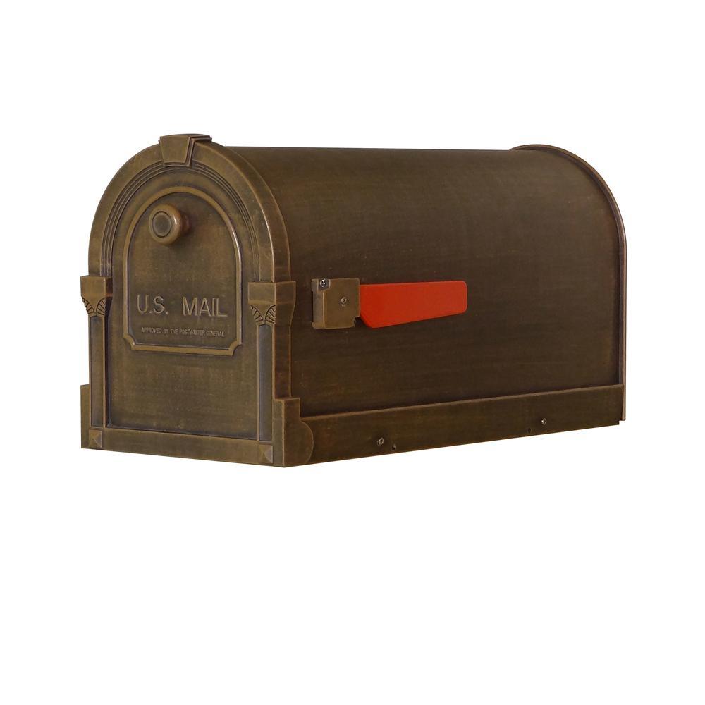Savannah Curbside Mailbox Decorative Aluminum Mailbox. Picture 1