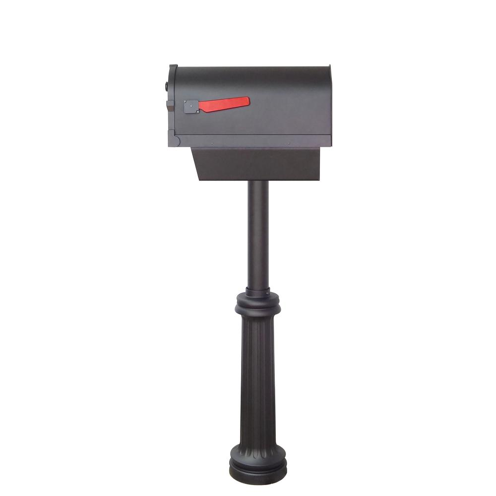 Savannah Curbside Mailbox with Paper Tube and Bradford Mailbox Post. Picture 4