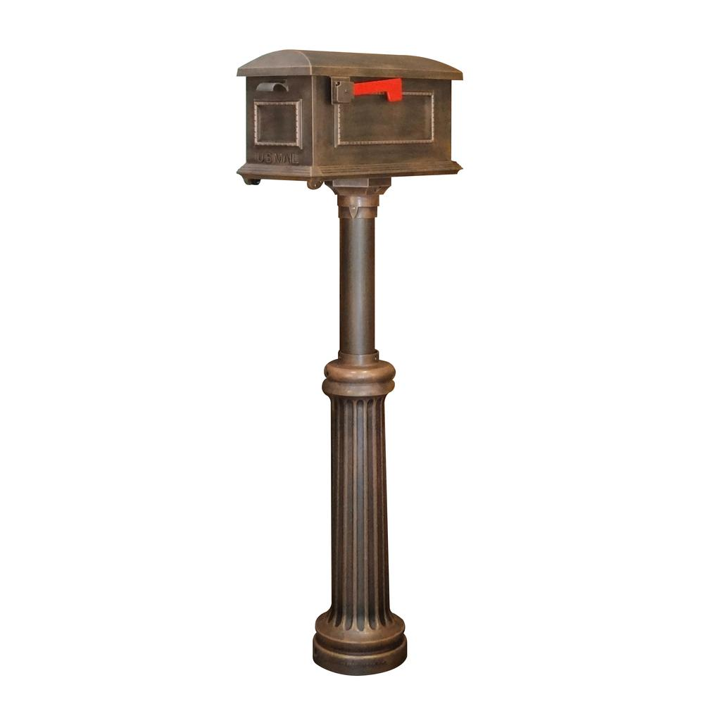 Traditional Curbside Mailbox and Bradford Direct Burial Top Mount Mailbox Post. Picture 1