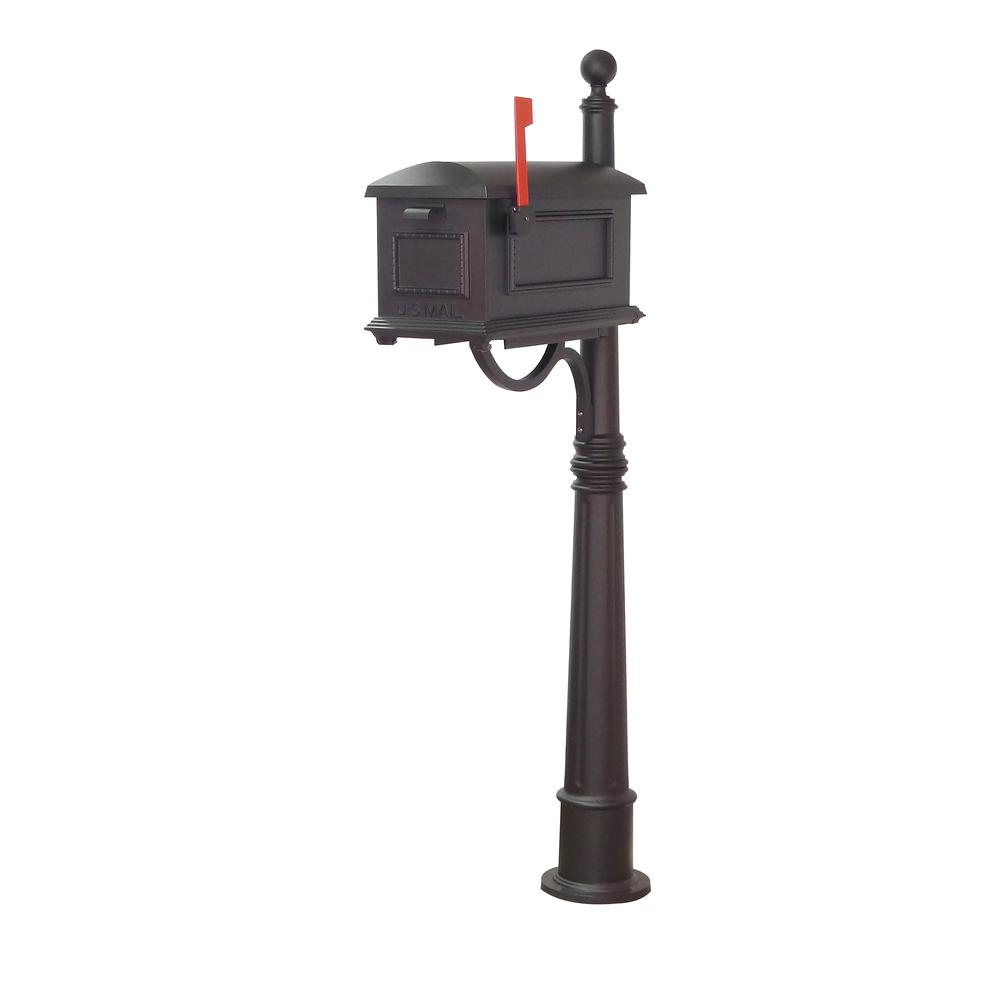 Traditional Curbside Mailbox and Ashland Decorative Aluminum Durable Post. Picture 2
