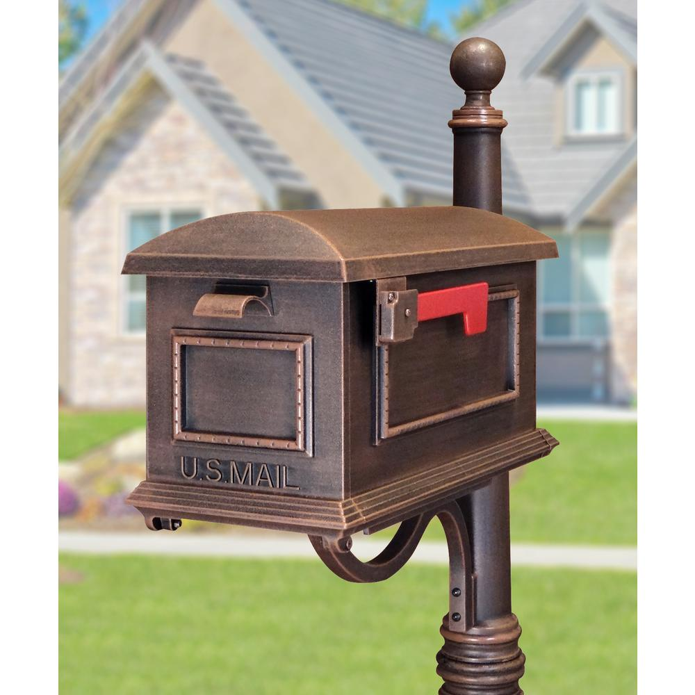 Traditional Curbside Mailbox, Decorative Solid Aluminum Mailbox. Picture 2