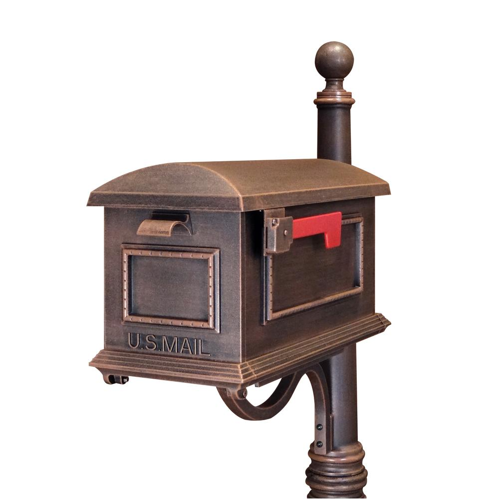 Traditional Curbside Mailbox, Decorative Solid Aluminum Mailbox. Picture 1