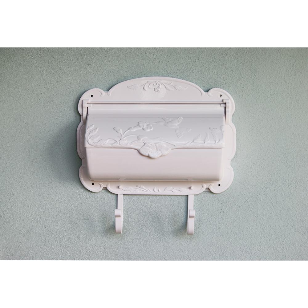 Hummingbird Horizontal Mailbox Decorative Wall Mount Aluminum Mailbox. Picture 2