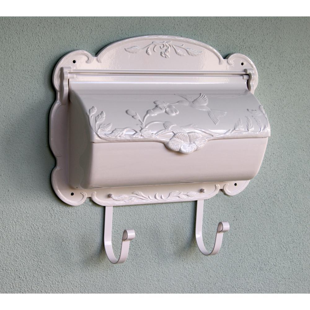 Hummingbird Horizontal Mailbox Decorative Wall Mount Aluminum Mailbox. Picture 4