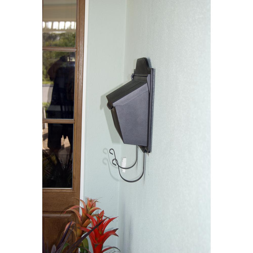 Contemporary Horizontal Mailbox Residential Aluminum Wall Mount Decorative Modern Design. Picture 4