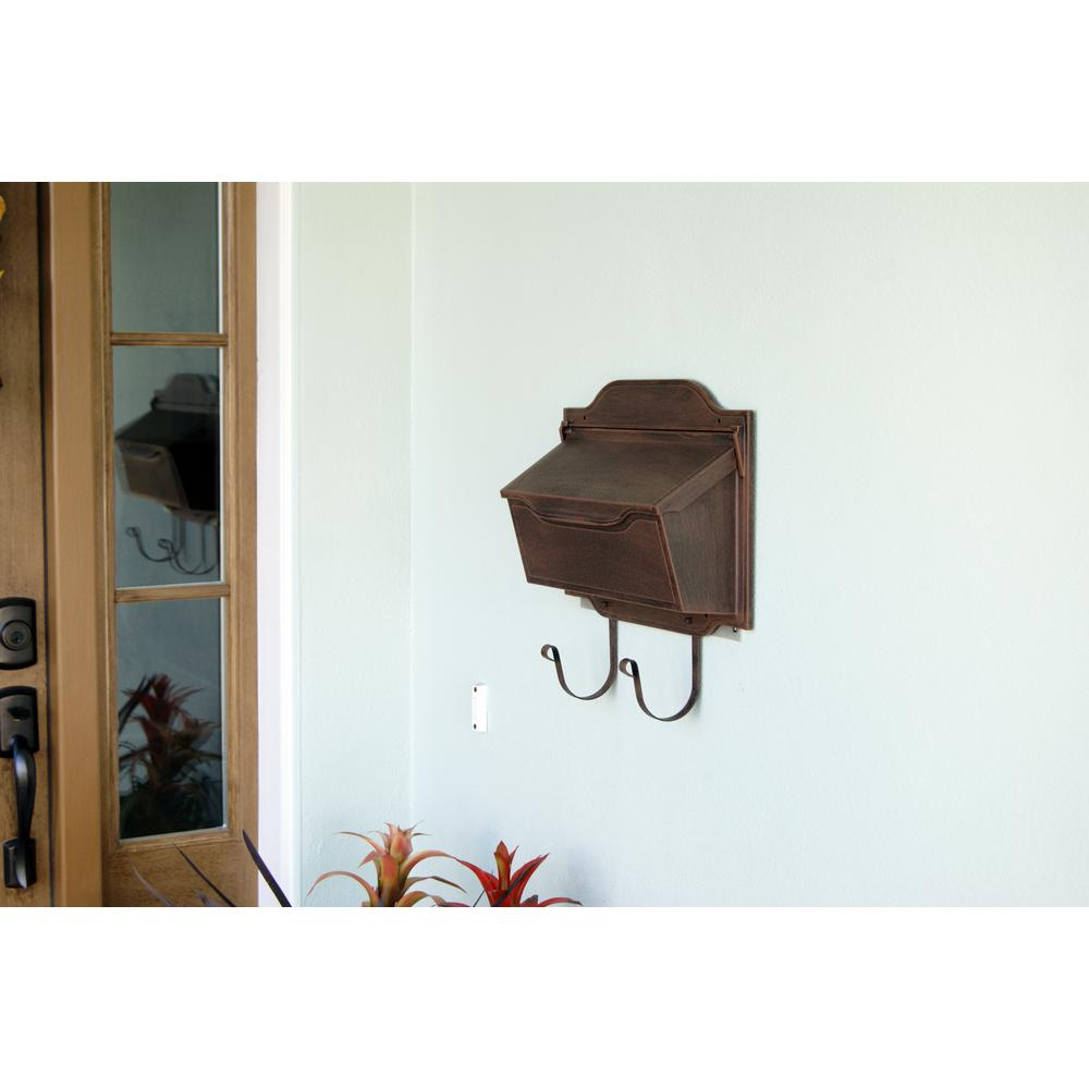 Contemporary Horizontal Mailbox Residential Aluminum Wall Mount Decorative Modern Design. Picture 3